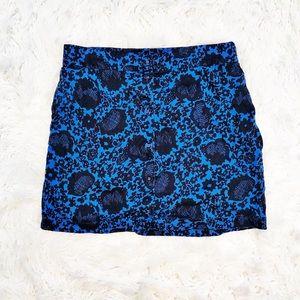 Boden floral print button down skirt